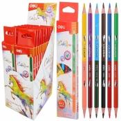 Набор карандашей 12 цветов, 6 шт, ColoRun, Deli. Арт. 00500С