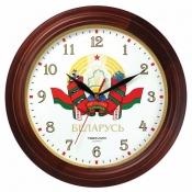 Часы настенные деревянные, диаметр 300мм, стекло минеральное, арт. 11025164