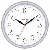 Часы настенные пластиковые, диаметр 245 мм, стекло пластиковое, арт. 21210213