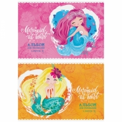 "Альбом для рисования 08л., А4, на скрепке ArtSpace ""Русалки. Mermaid at heart"", А08ф_26300"