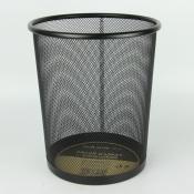 Корзина для бумаг 29,5х34,5 см, металлическая, сетчатая, цвет черный, HORER. Арт. L5001