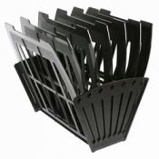 Лоток для бумаг универсальный (6 отделений), цвет черный. Арт. 9с162