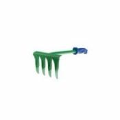 Грабли витые 4 зуб. с металлическим черенком и пластиковой ручкой
