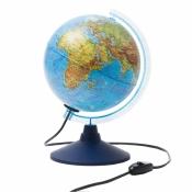 Глобус физический Globen, 21см, с подсветкой на круглой подставке Ке012100179