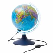 Глобус политический Globen, 21см, с подсветкой на круглой подставке Ке012100180